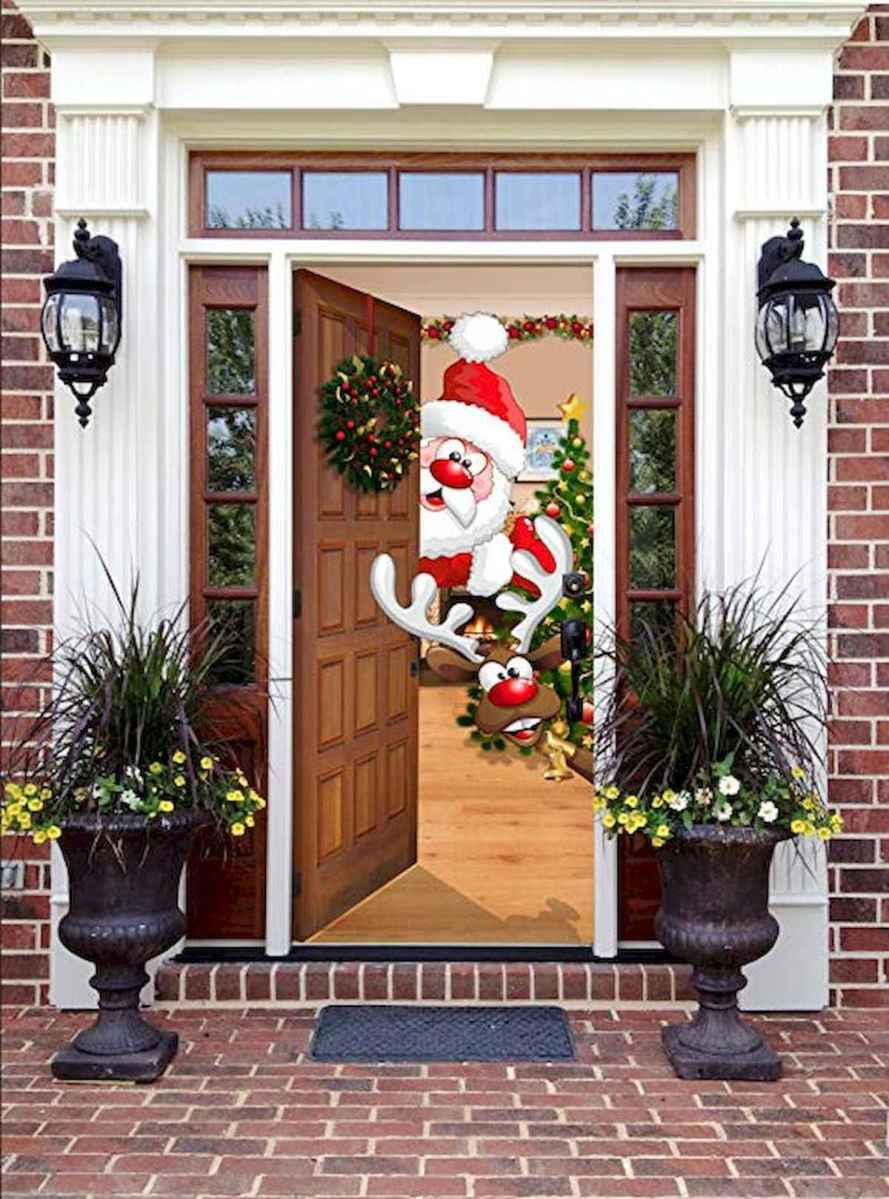 50 Awesome Christmas Front Porch Decor Ideas And Design (9)
