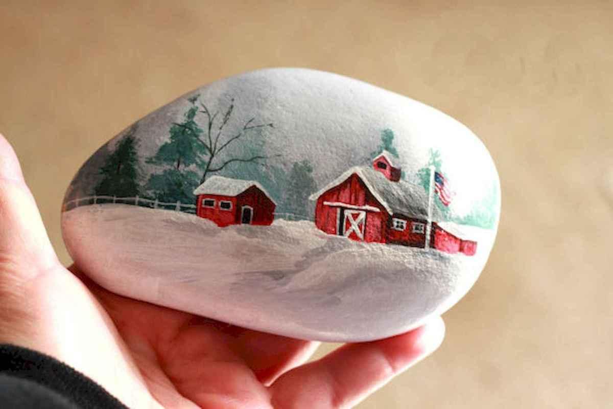 50 Easy DIY Christmas Painted Rock Design Ideas (6)