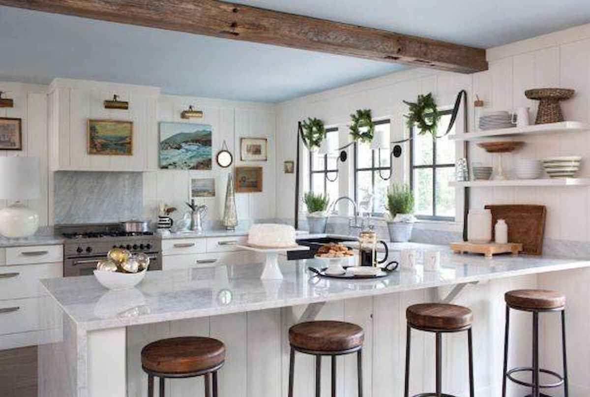 20 Elegant Christmas Kitchen Decor Ideas And Makeover (17)