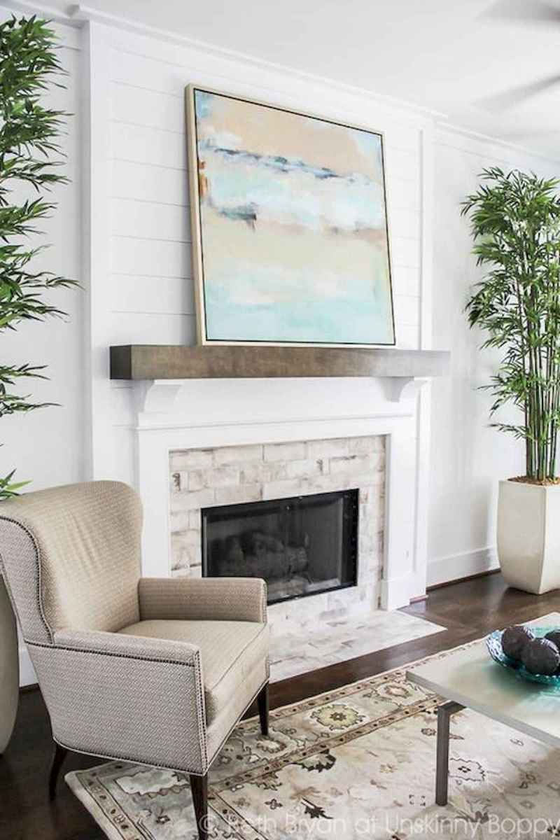 40 Awesome Fireplace Makeover For Farmhouse Home Decor (15)