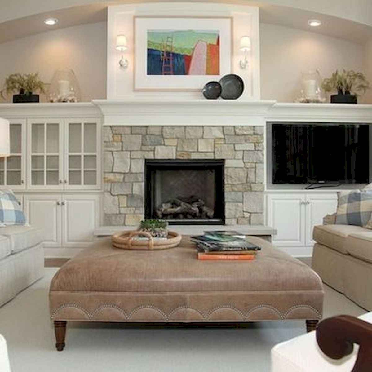 40 Awesome Fireplace Makeover For Farmhouse Home Decor (17)