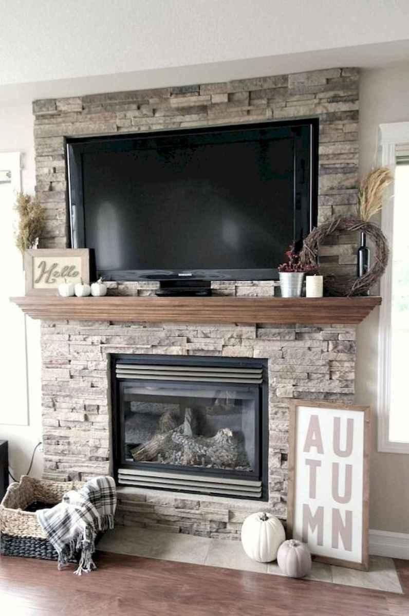 40 Awesome Fireplace Makeover For Farmhouse Home Decor (18)