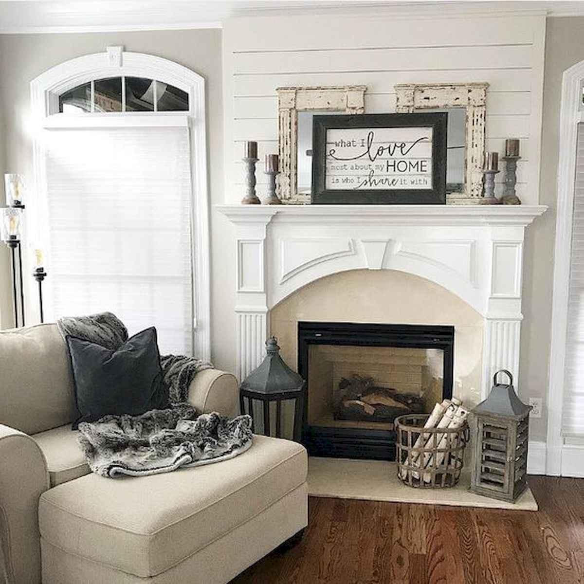 40 Awesome Fireplace Makeover For Farmhouse Home Decor (23)