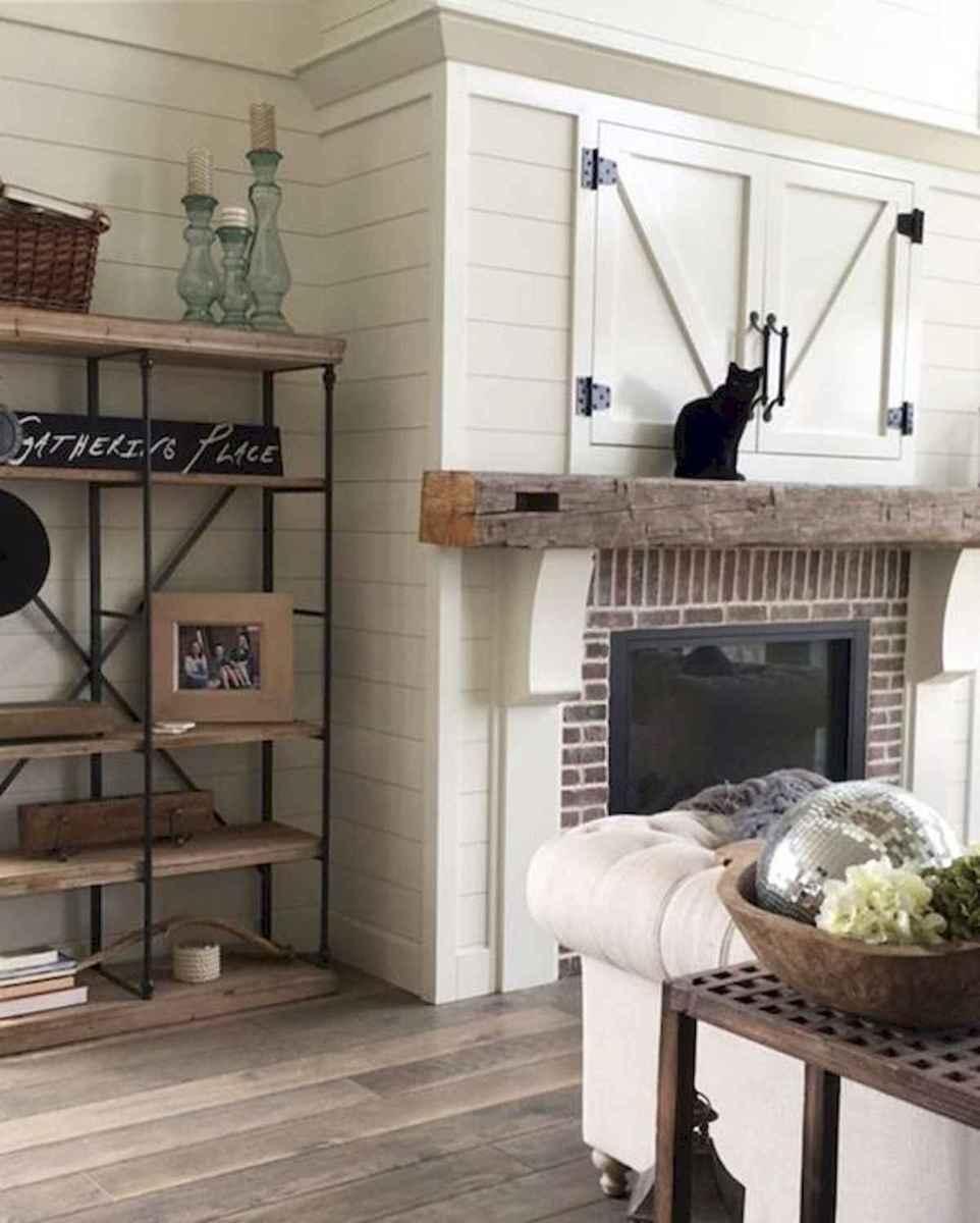 40 Awesome Fireplace Makeover For Farmhouse Home Decor (25)