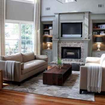 40 Awesome Fireplace Makeover For Farmhouse Home Decor (27)