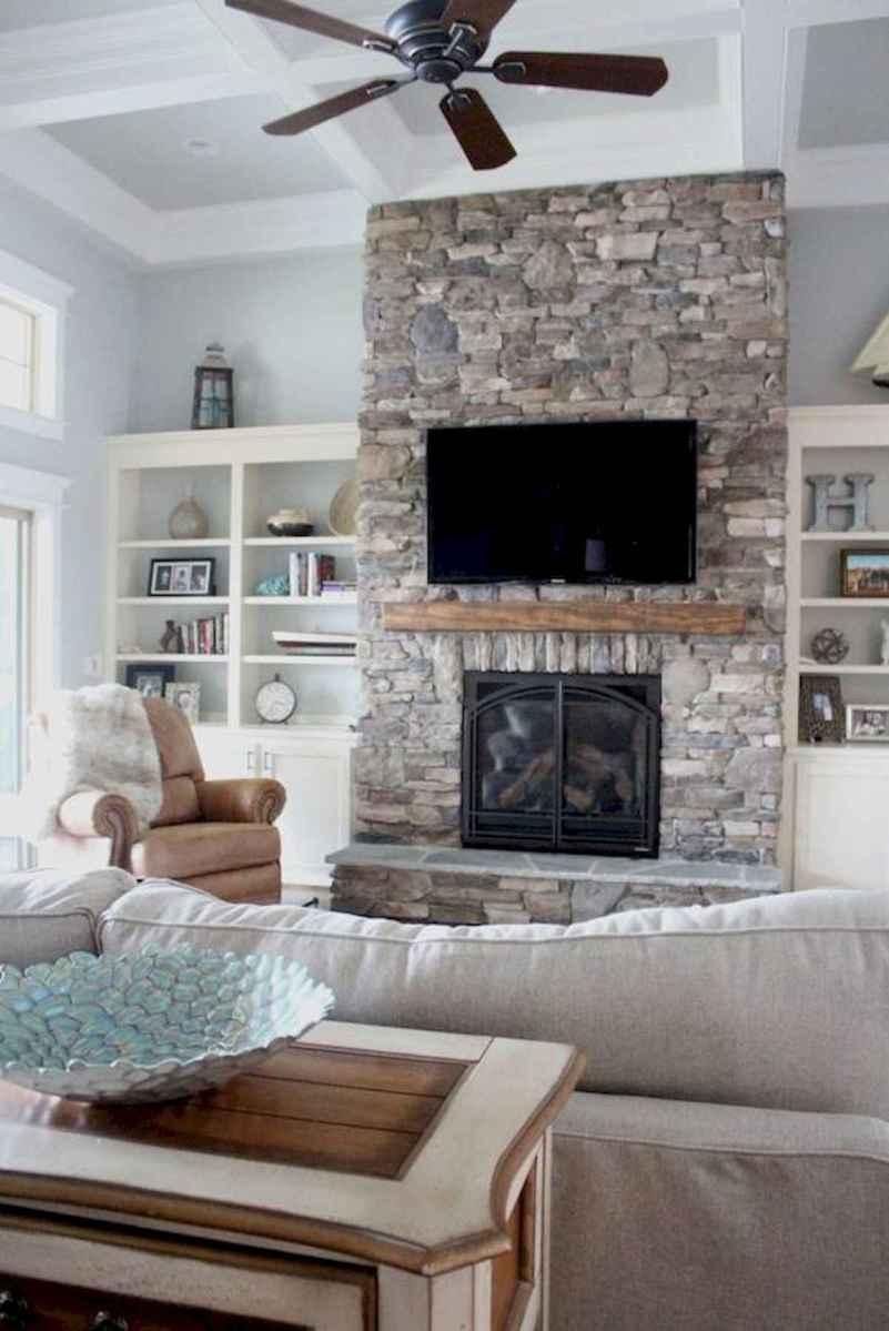 40 Awesome Fireplace Makeover For Farmhouse Home Decor (31)