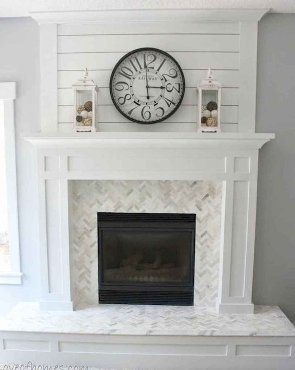 40 Awesome Fireplace Makeover For Farmhouse Home Decor (6)