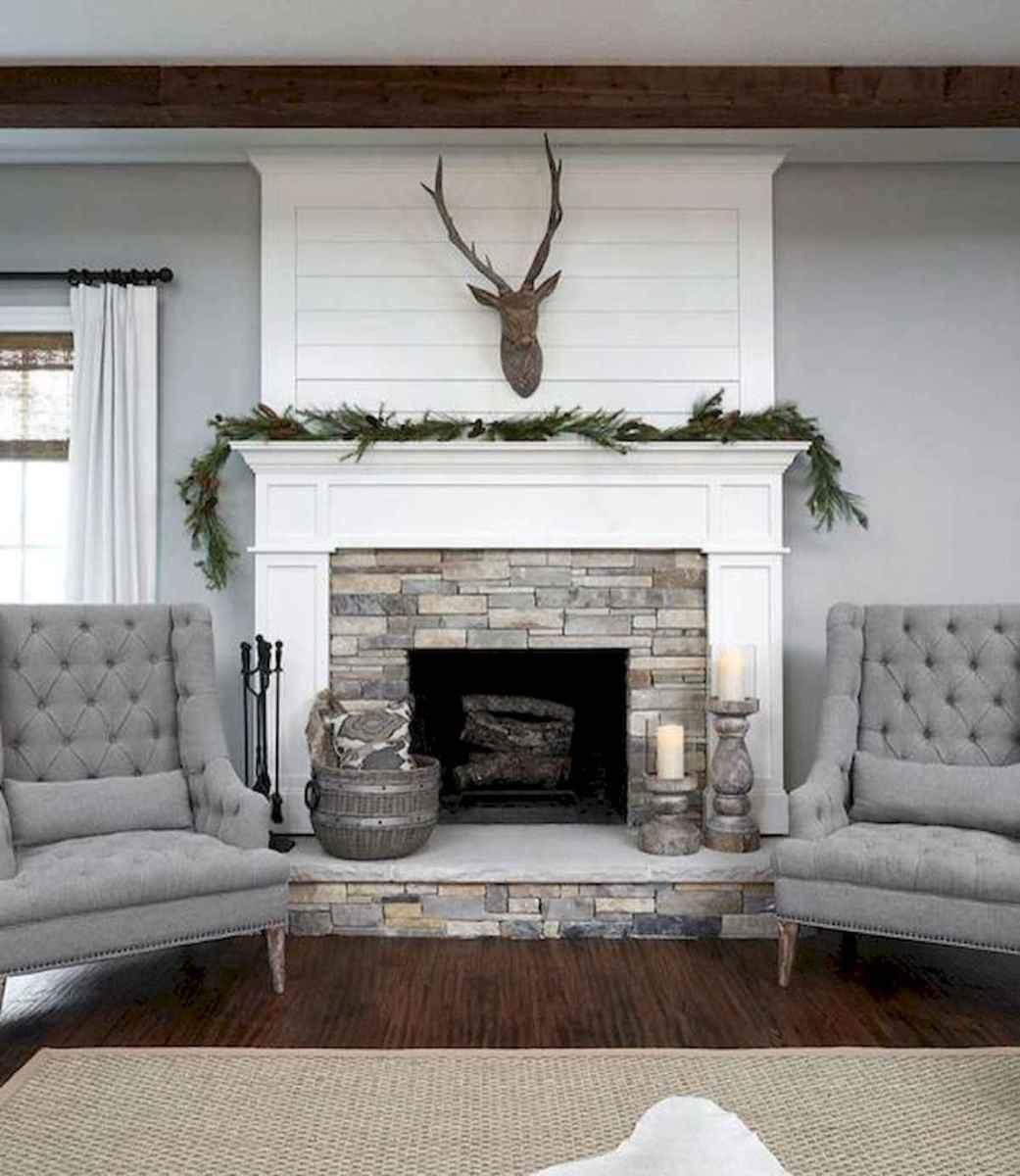 40 Best Modern Farmhouse Fireplace Mantel Decor Ideas (16)