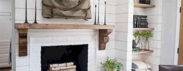 40 Best Modern Farmhouse Fireplace Mantel Decor Ideas (30)