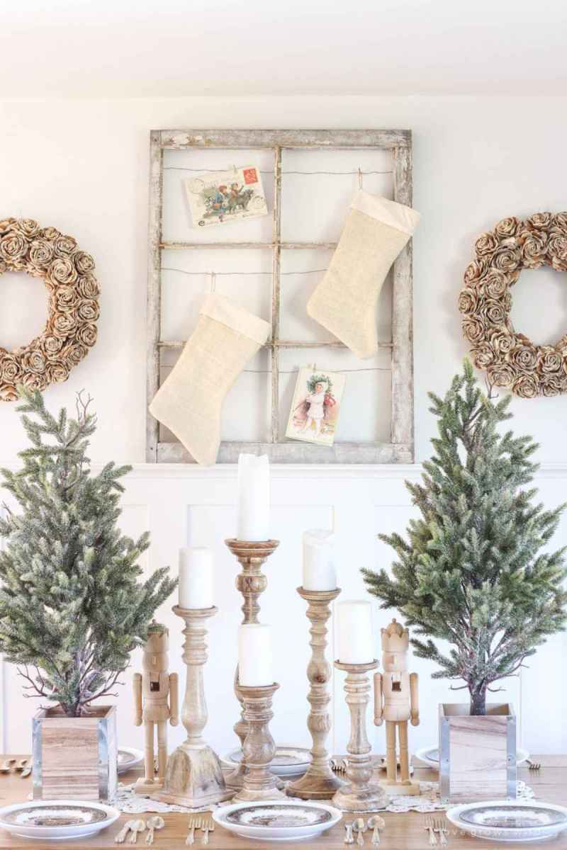 60 Awesome Farmhouse Christmas Decorating Ideas And Makeover (14)