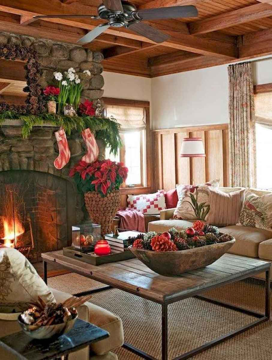 60 Awesome Farmhouse Christmas Decorating Ideas And Makeover (16)