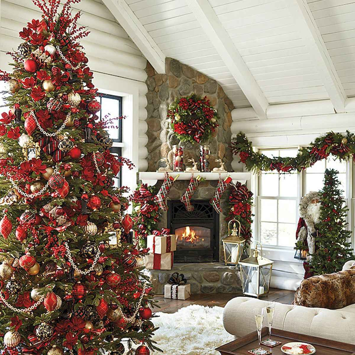 60 Awesome Farmhouse Christmas Decorating Ideas And Makeover (24)