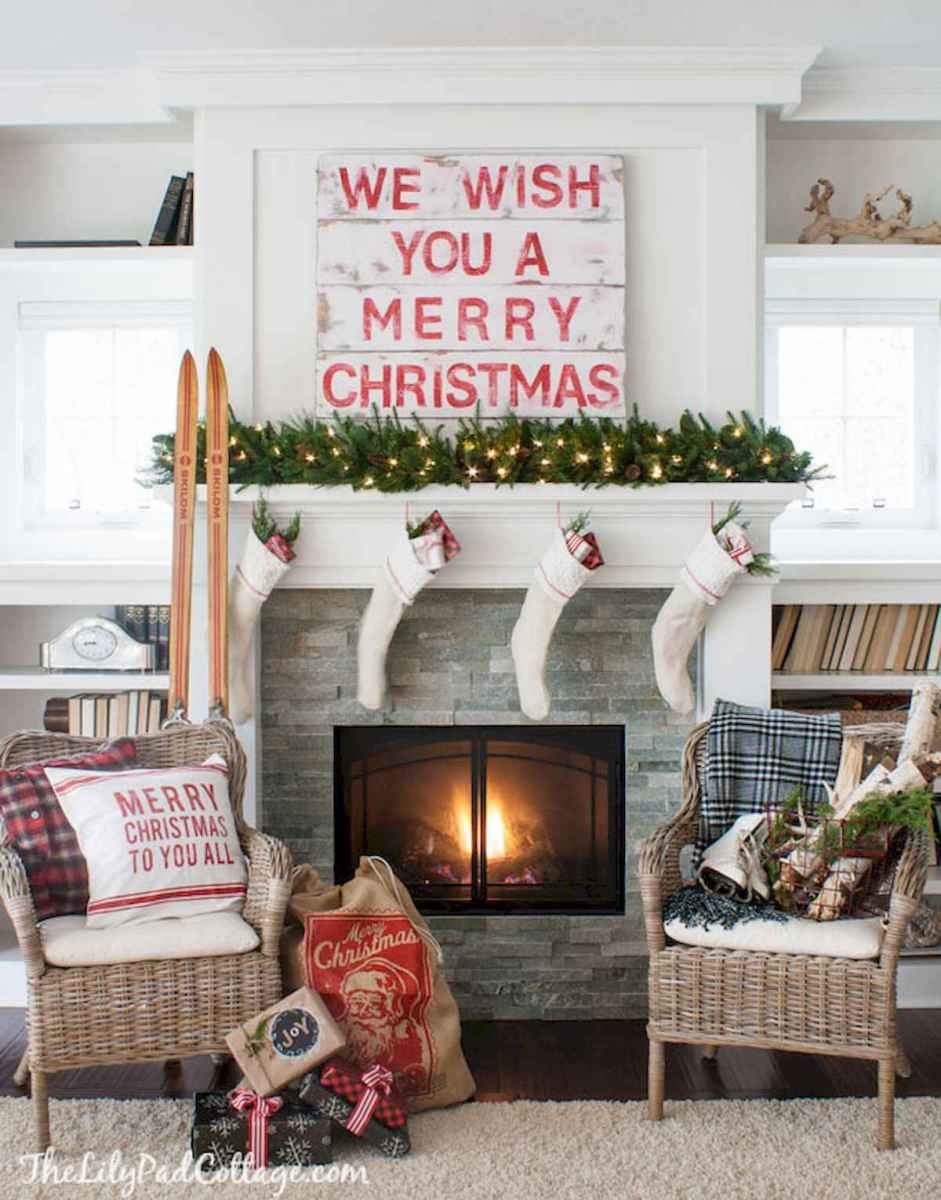60 Awesome Farmhouse Christmas Decorating Ideas And Makeover (27)