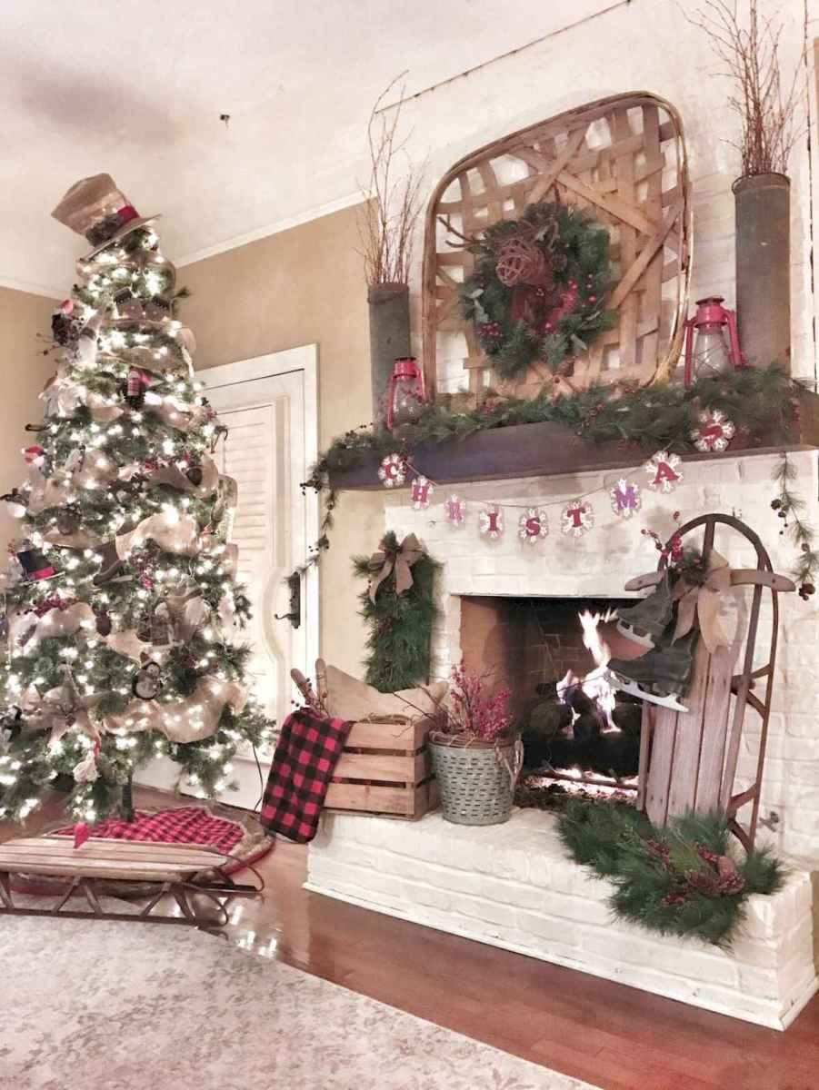 60 Awesome Farmhouse Christmas Decorating Ideas And Makeover (6)