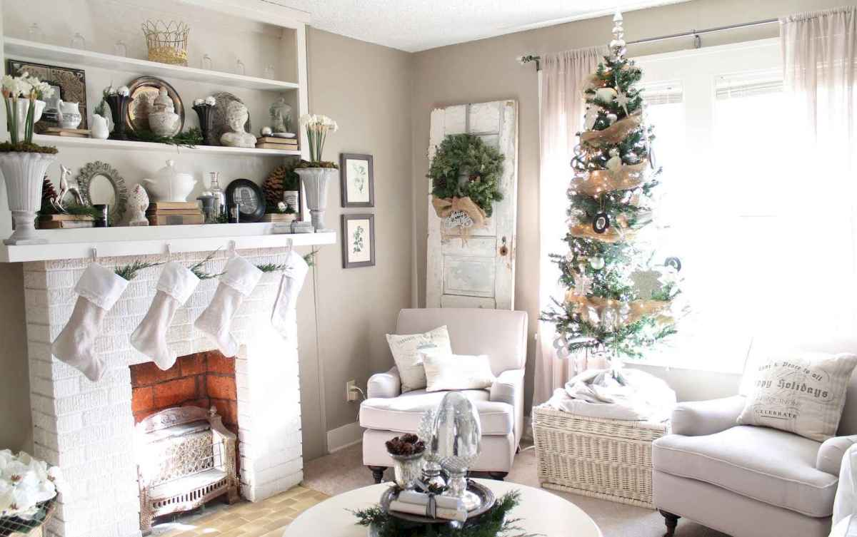 60 Awesome Farmhouse Christmas Decorating Ideas And Makeover (9)