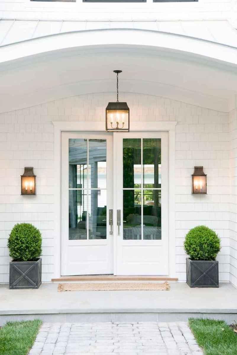 70 Best Modern Farmhouse Front Door Entrance Design Ideas (17)