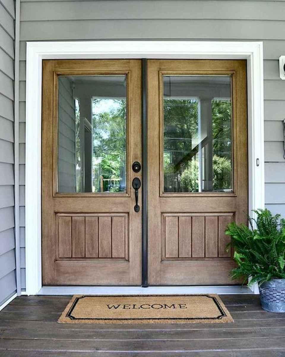 70 Best Modern Farmhouse Front Door Entrance Design Ideas (21)