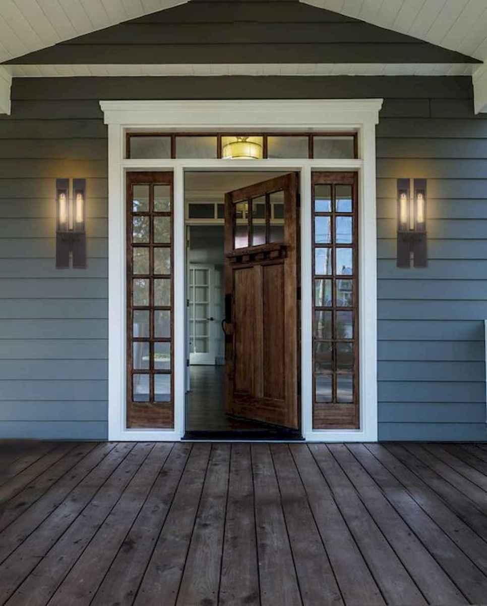 70 Best Modern Farmhouse Front Door Entrance Design Ideas (26)