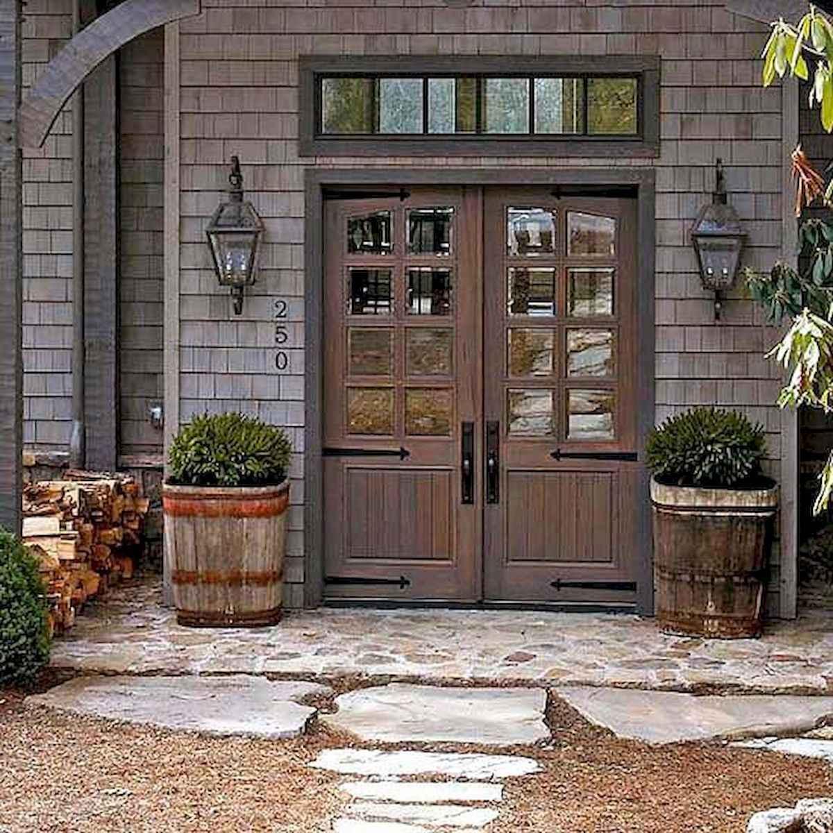 70 Best Modern Farmhouse Front Door Entrance Design Ideas (58)
