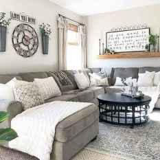 70 Elegant Modern Farmhouse Living Room Decor Ideas And Makeover (36)