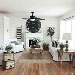 70 Elegant Modern Farmhouse Living Room Decor Ideas And Makeover (39)