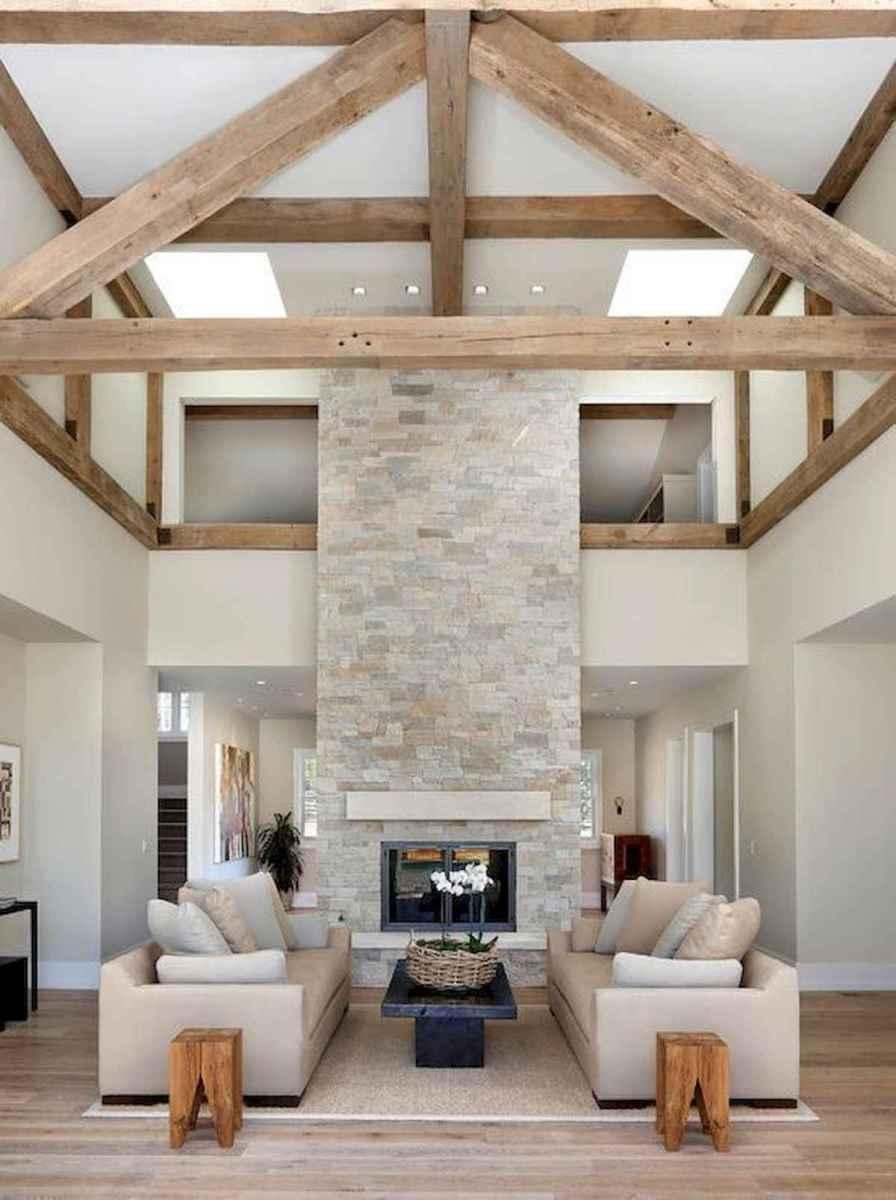 70 Elegant Modern Farmhouse Living Room Decor Ideas And Makeover (59)