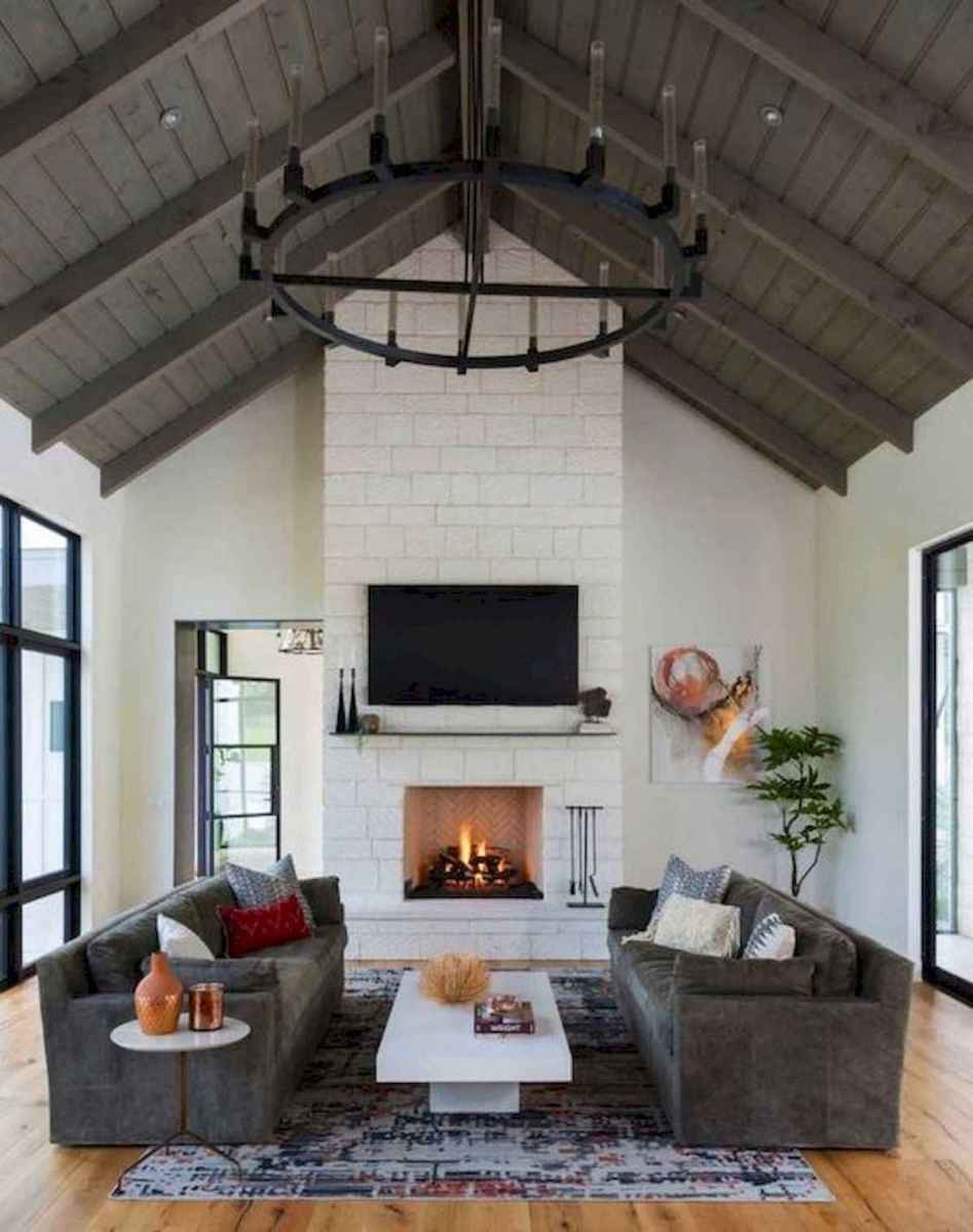70 Elegant Modern Farmhouse Living Room Decor Ideas And Makeover (60)