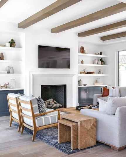 80 Elegant Furniture For Modern Farmhouse Living Room Decor Ideas (26)