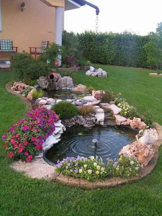 25 Stunning Backyard Ponds Ideas With Waterfalls (25)