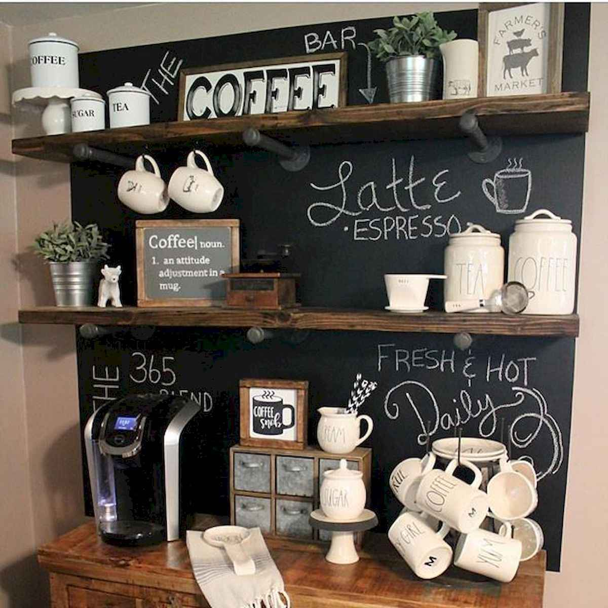 32 Awesome DIY Mini Coffee Bar Design Ideas For Your Home (21)