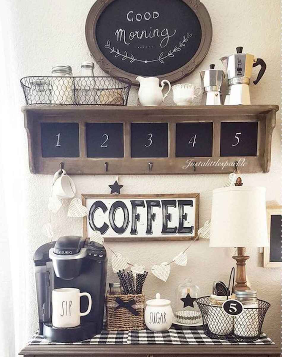 32 Awesome DIY Mini Coffee Bar Design Ideas For Your Home (31)