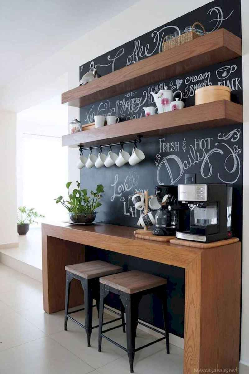 32 Awesome DIY Mini Coffee Bar Design Ideas For Your Home (9)