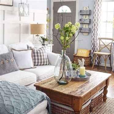 50 Rustic Farmhouse Living Room Decor Ideas (16)