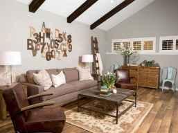 50 Rustic Farmhouse Living Room Decor Ideas (21)