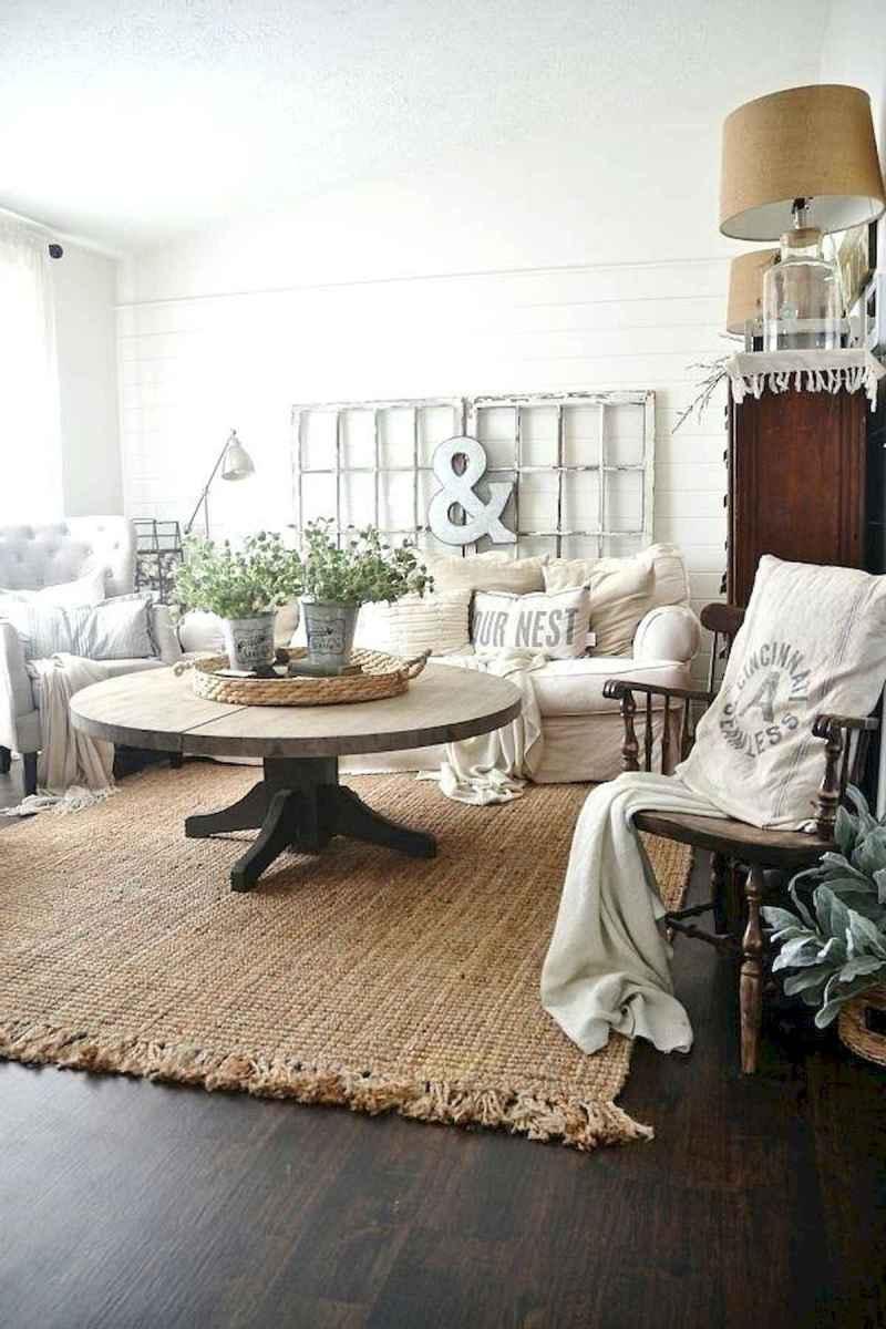 50 Rustic Farmhouse Living Room Decor Ideas (25)