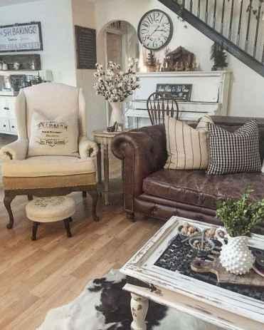 50 Rustic Farmhouse Living Room Decor Ideas (3)