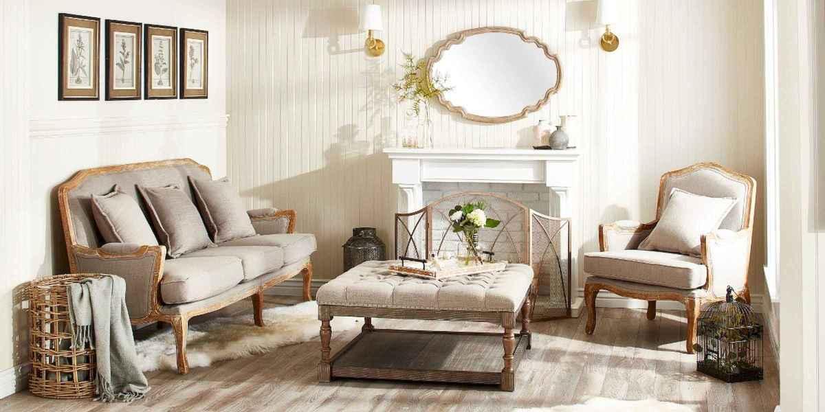 50 Rustic Farmhouse Living Room Decor Ideas (35)