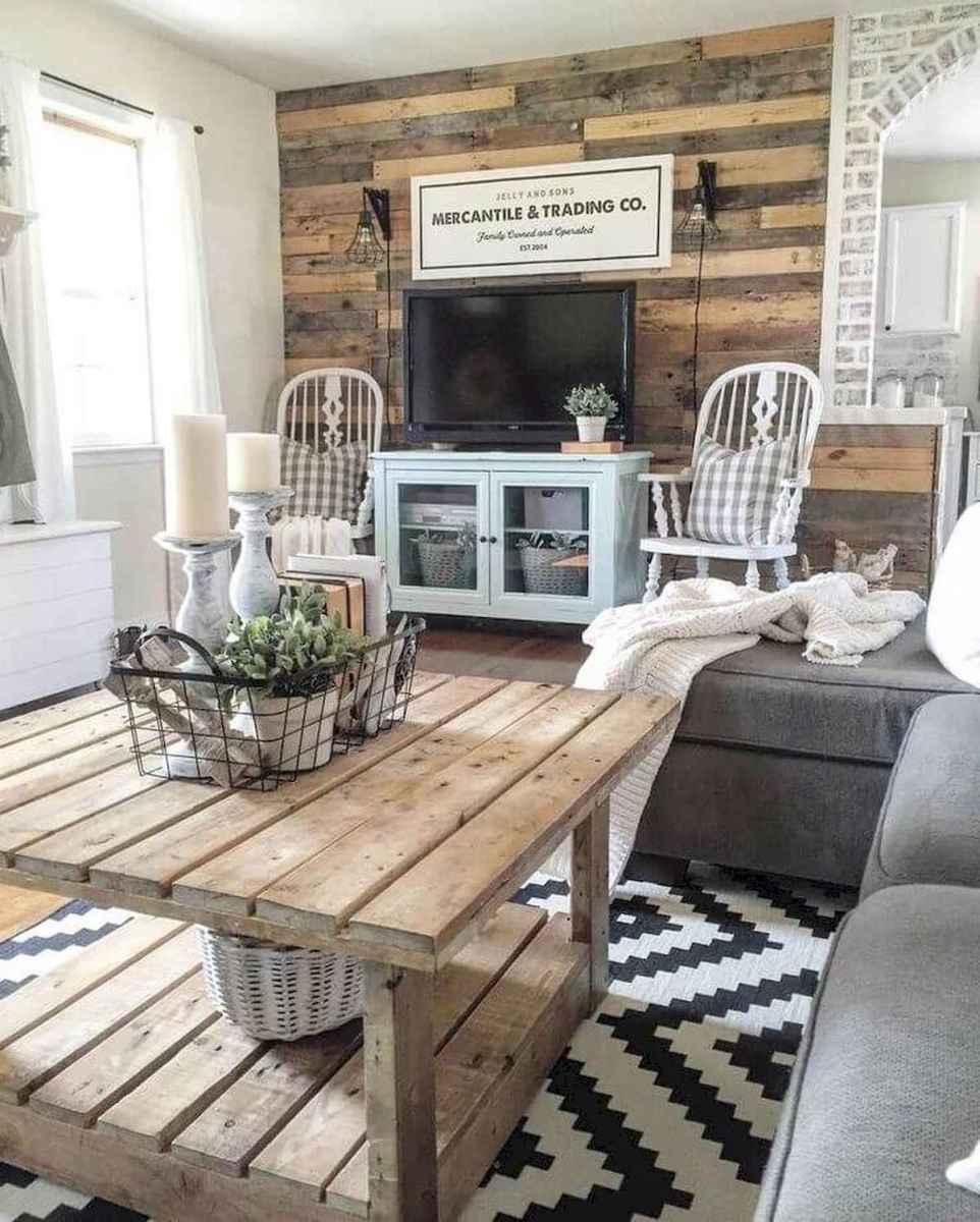50 Rustic Farmhouse Living Room Decor Ideas 41