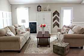 50 Rustic Farmhouse Living Room Decor Ideas (45)