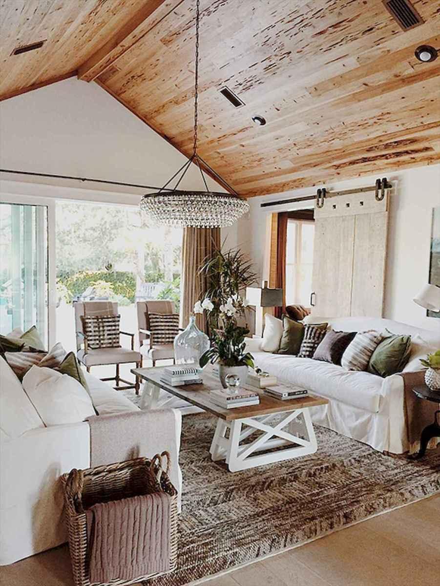 50 Rustic Farmhouse Living Room Decor Ideas (8)