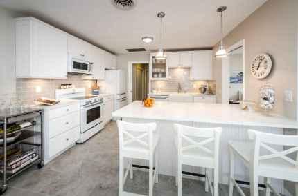 70 Luxury White Kitchen Design Ideas And Decor (33)