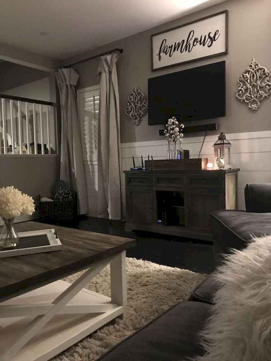33 Best Farmhouse Living Room TV Stand Design Ideas (19 ...