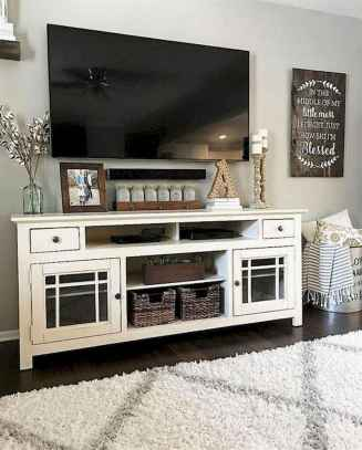 33 Best Farmhouse Living Room TV Stand Design Ideas (2)