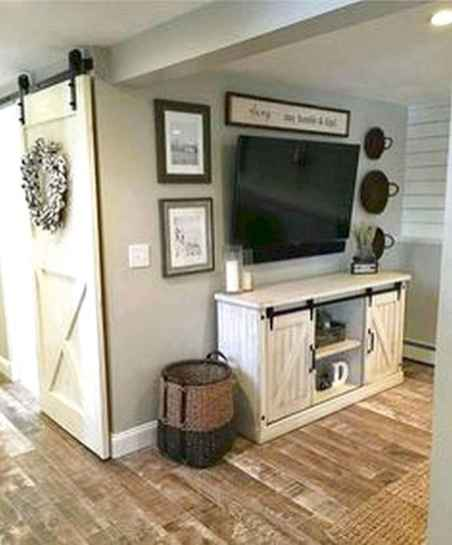 33 Best Farmhouse Living Room TV Stand Design Ideas (21)