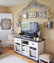 33 Best Farmhouse Living Room TV Stand Design Ideas (26)