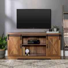 33 Best Farmhouse Living Room TV Stand Design Ideas (29)
