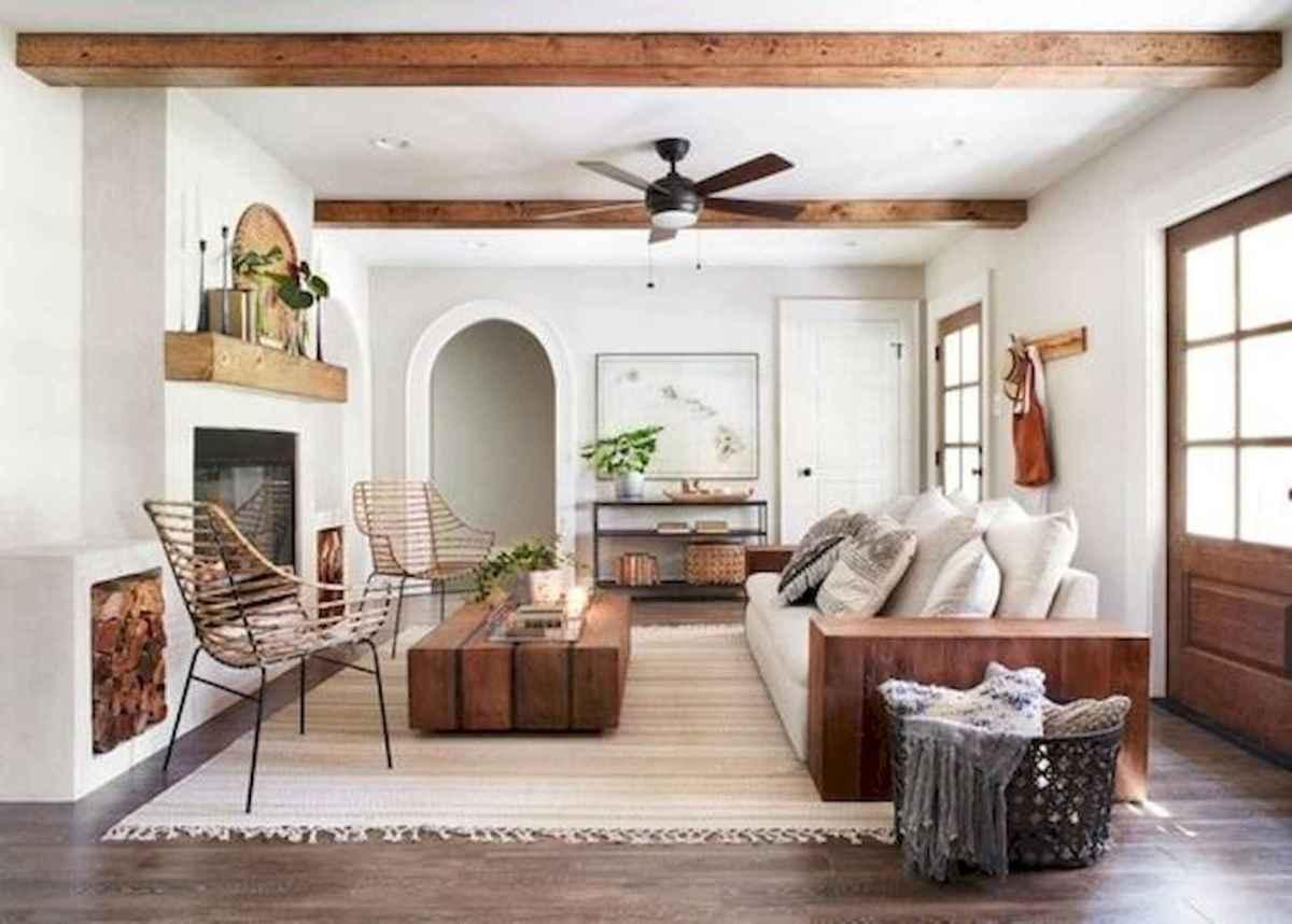 33 Farmhouse Living Room Flooring Ideas (19)