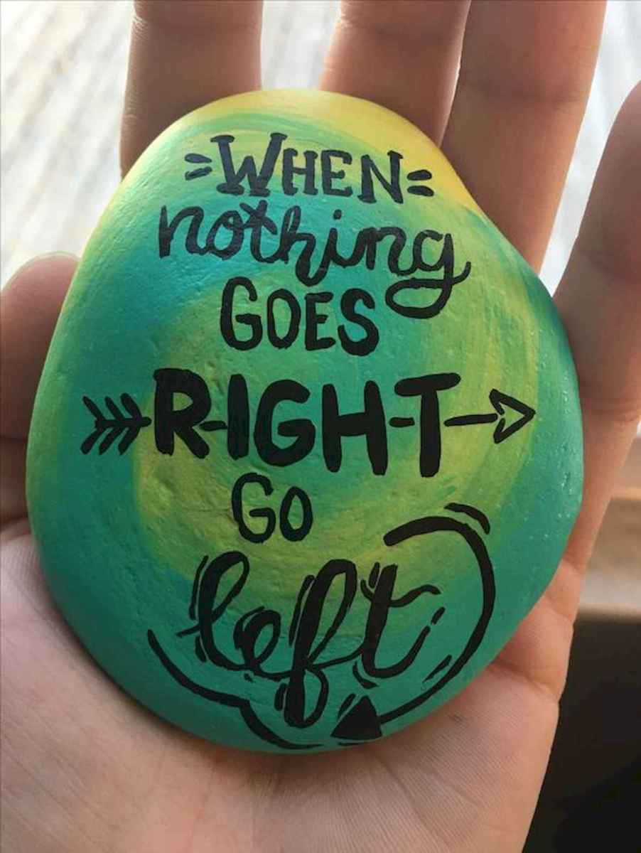 35 Awesome Painted Rocks Quotes Design Ideas (8)