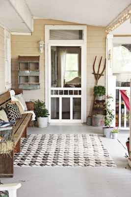 40 Awesome Farmhouse Porch Design Ideas And Decorations (41)