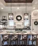 50 Best Modern Farmhouse Kitchen Island Decor Ideas (17)